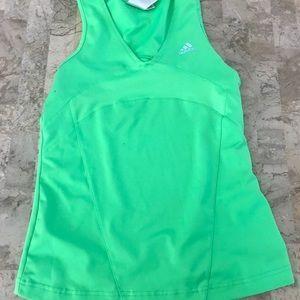 Adidas women's green athletic top medium